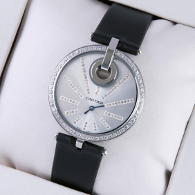 Imitation Captive De Cartier Stainless Steel Fabric Strap Ladies Watches On Sale