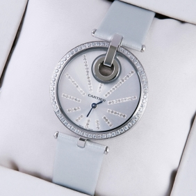 Fake Captive De Cartier White Fabric Strap Ladies Watches For sale