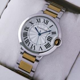 Cartier Ballon Bleu de Cartier Midsize Two-Tone Unisex Watches W69008Z3 fake