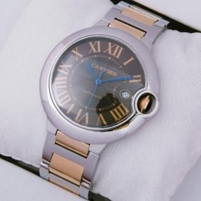 Cartier Ballon Bleu de Cartier Two-Tone Rose Gold and Steel Large Mens Watches W6920032 replica