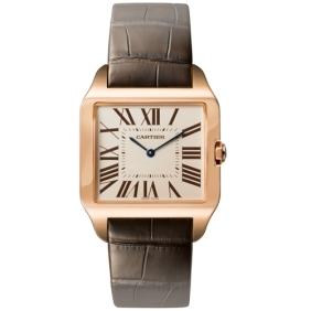 Best Sale Cartier Mens Santos Dumont Stainless Steel Watch On Cl1166.com