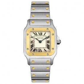 Stylish Cartier Delicate Santos Galbee Quartz Stainless Steel Ladies Watch