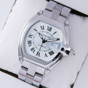 Cartier Roadster Stainless Steel Ivory Dial Mens Watches imitation