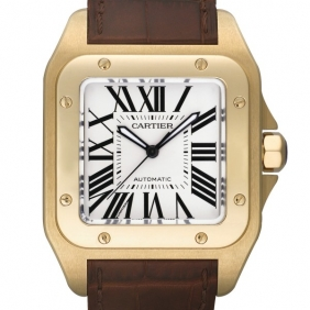 Discount Immitation Cartier Santos Yellow Gold Automatic Mens Watches