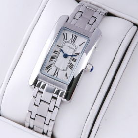 Cartier Tank Americaine 18K White Gold Ladies Watches replica