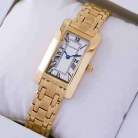 Cartier Tank Americaine 18K Yellow Gold Ladies Watches replica