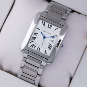 Cartier Tank Anglaise Stainless Steel Medium Unisex Watches fake