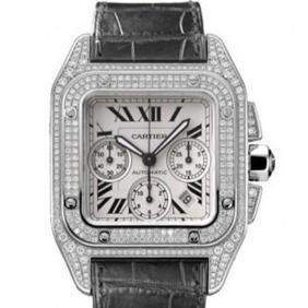 Replica Cartier luxury Santos Large Chronograph Diamond Watches