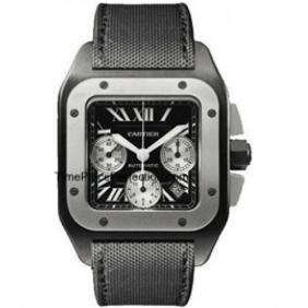 Cheap Charming Mens Cartier Santos Titanium Chronograph Watches