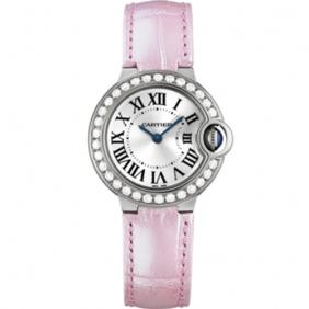 Replica Cartier Ballon Bleu Pink Diamond Watch Replica For Women Sale