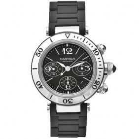 Fabulous Delicate Mens Cartier Pasha Seatimer Automatic Movement Large Watch Cheap