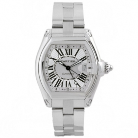 Roadster Cartier Mens Automatic Mechanical Movement Stainless Steel Watch Cheap