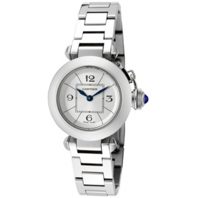 Buy Exquisite Pasha de Cartier Deployant Clasp Watch Blue Indicator