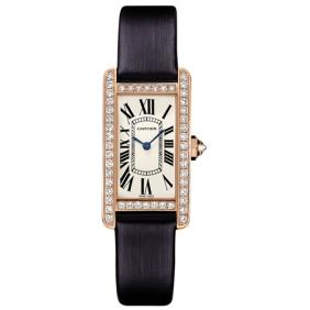 High Imitation Tank Americaine Series Cartier Diamond Ladies Watch
