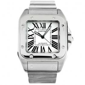 Luxurious Cartier Santos Steel Automatic Gorgerous Mens Watch cheap Sale