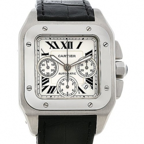 Luxury Cartier Santos Chronograph Mens Watch Online Shopping Cheap