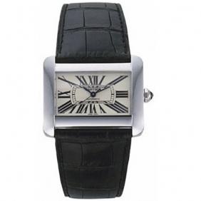 Sale Fashion Tank Divan Cartier Stainless Steel Swiss Quartz Men Watch