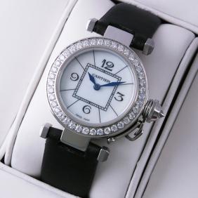 Fake Pasha de Cartier Diamonds Bezel MOP Dial Ladies Watches