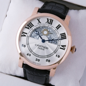 Rotonde de Cartier Day-Night Collection Privee 18K Rose Gold Mens Watches replica