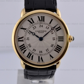 Cheap sale Mens Cartier Ronde Louis Round Case Leather Strap Watches