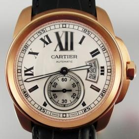 Online Sale Cheap Cartier Calibre White Dial Automatic Mens Watch