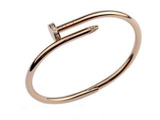 Cartier Juste un Clou Bracelet, 18K Pink Gold Diamond-Paved