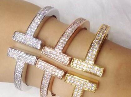 Tffany T bracelet with diamond