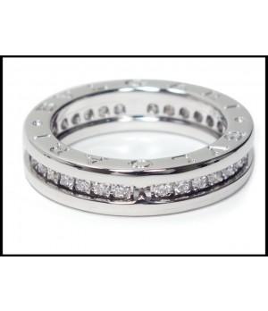 Bvlgari B.ZERO1 1-Band Ring in 18kt White Gold with Pave Diamonds