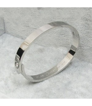 Classic Cartier LOVE Bracelet in Platinum with a Diamond