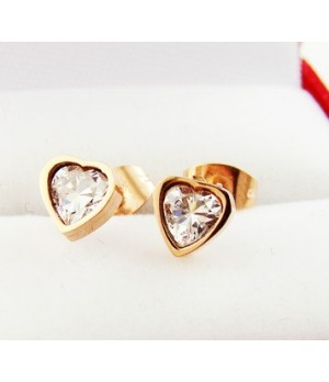 Heart Of Cartier Diamond Earrings in Pink Gold