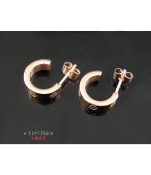 Cartier LOVE Pierced Earrings, 18K Pink Gold