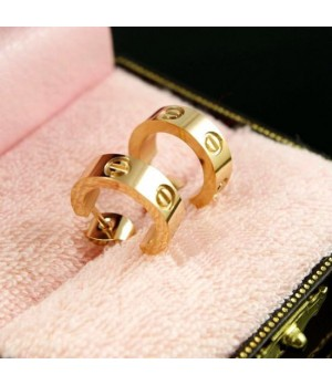 Cartier LOVE Pierced Earrings, 18K Yellow Gold