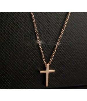 Cartier Cross Necklace in 18k Pink Gold, Small