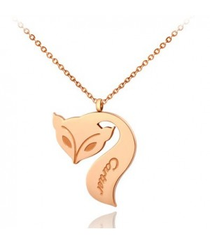 Cartier Fox Necklace in 18k Pink Gold