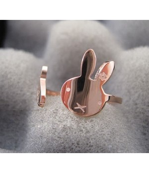 Cartier Panthere Ring, Pink Gold Set With Onyx Nose and Black Lacquer