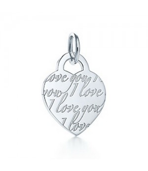 Tiffany Notes I Love You tag charm