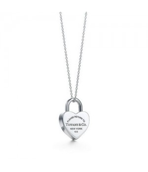 Return to Tiffany Heart lock necklace discount