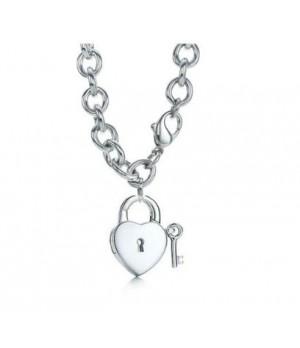 Tiffany lock and key neckalce