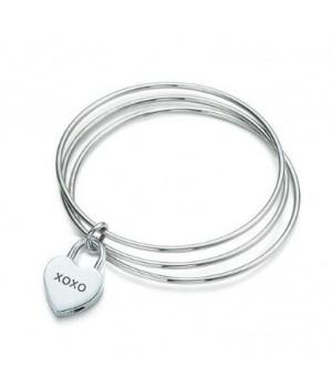 Tiffany XOXO heart lock banlge