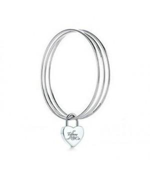 Tiffany Mageweave heart lock banlge