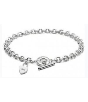 Tiffany tag heart lock necklace