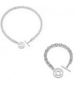 Tiffany Toggle Necklace And Bracelet set wholesale