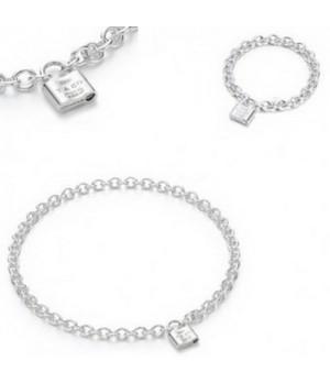 Tiffany Lock Bracelet And Necklace set wholesale