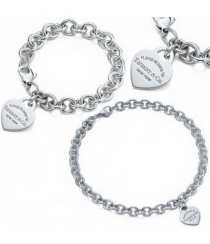 Tiffany Heart Tag Bracelet And Necklace set replica