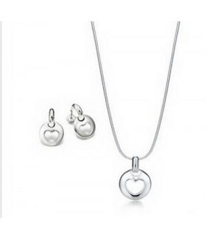 Cheap Tiffany Heart Hoop set