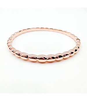 Van Cleef & Arpels Perlee Bangle Bracelet in Pink Gold