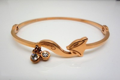 Cartier Fox Bracelet in 18kt Pink Gold with Double Diamonds