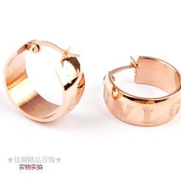 Bvlgari MONOLOGO Earrings in 18kt Pink Gold