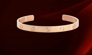 Cartier Cuff LOVE Bracelet in 18kt Pink Gold