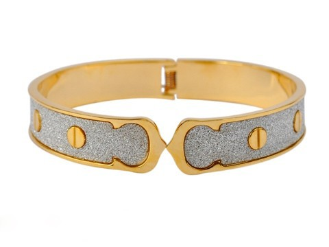 Cartier LOVE Bangle Bracelet in 18kt Yellow Gold with silicon carb crystals